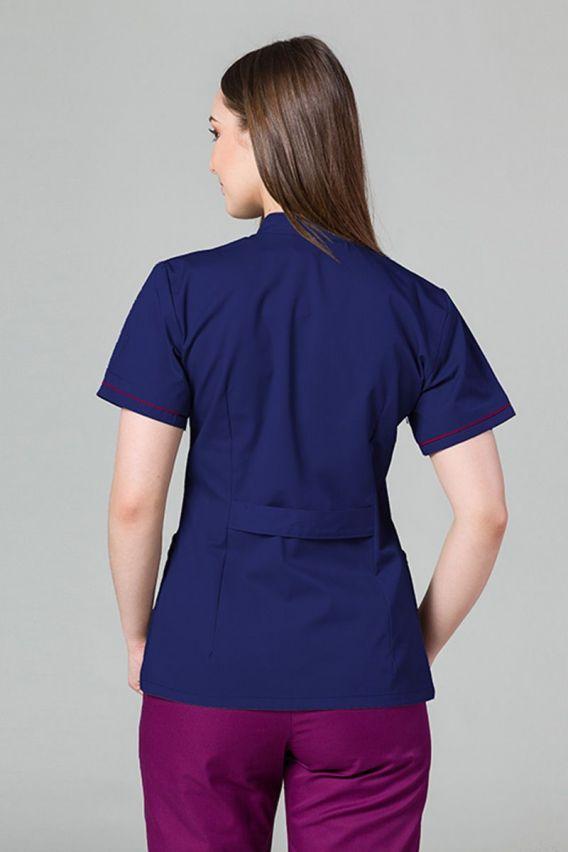 zakiety Lékařské sako 01 Sunrise Uniforms tmavě modre s malinovým lemem