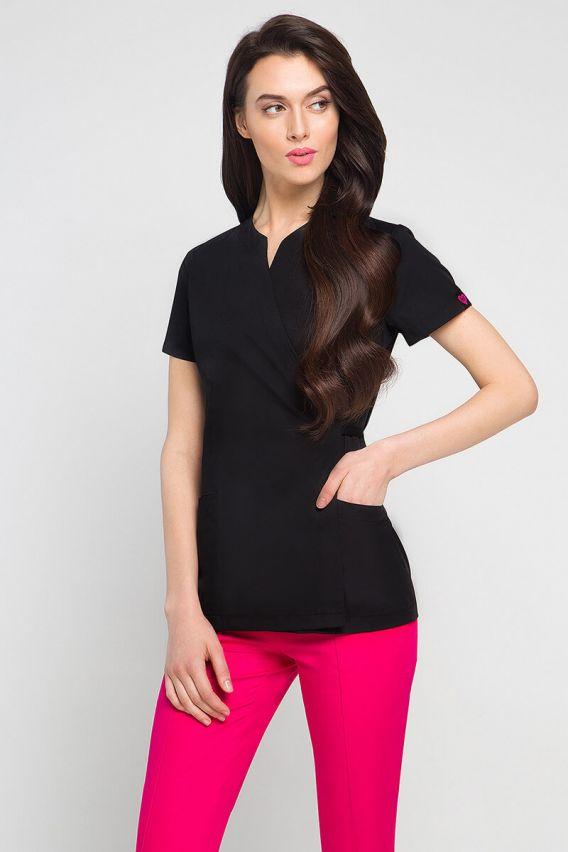 bluzy-2 Zdravotnická / kosmetická zástěra na zapínání Vena Spa 4 černá