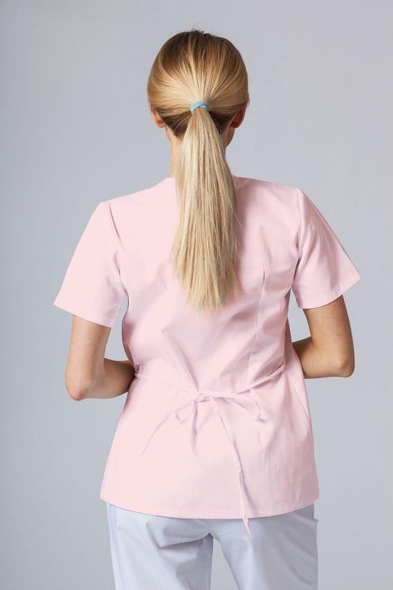 bluzy-medyczne-damskie Zástěra/dámská halena s vázáním Sunrise Uniforms pudrová růžová