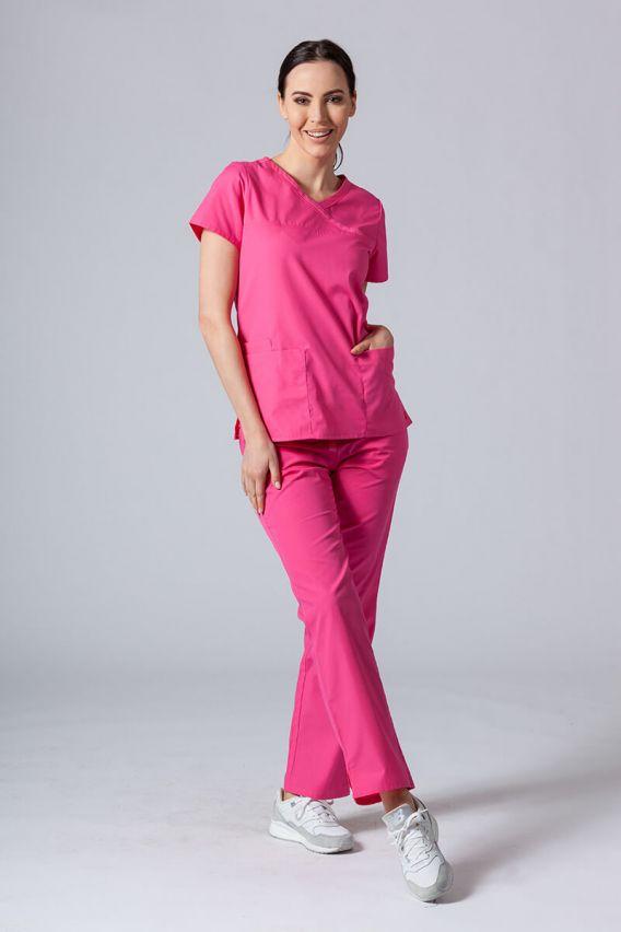 bluzy-medyczne-damskie Lékarská blúzka Maevn Red Panda Asymetric ružová