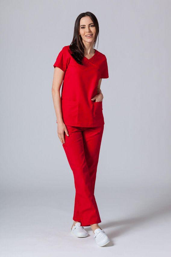 bluzy-medyczne-damskie Lékarská blúzka Maevn Red Panda Asymetric červená
