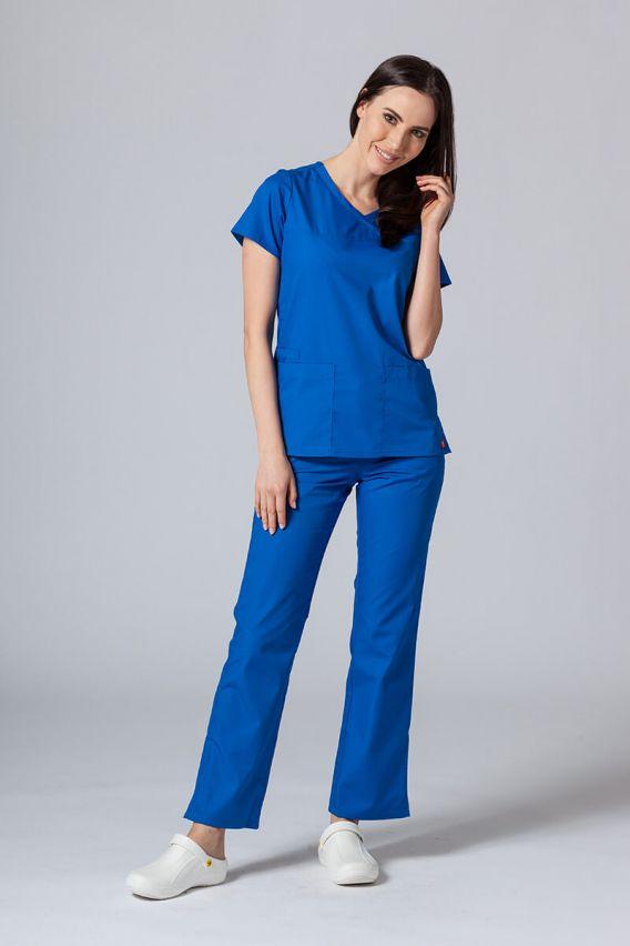 bluzy-medyczne-damskie Lékařská halena Maevn Red Panda Asymetric královsky modrá