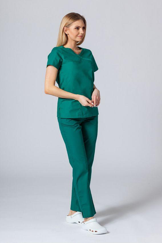 bluzy-medyczne-damskie Lékařská halena Maevn Red Panda Asymetric zelená