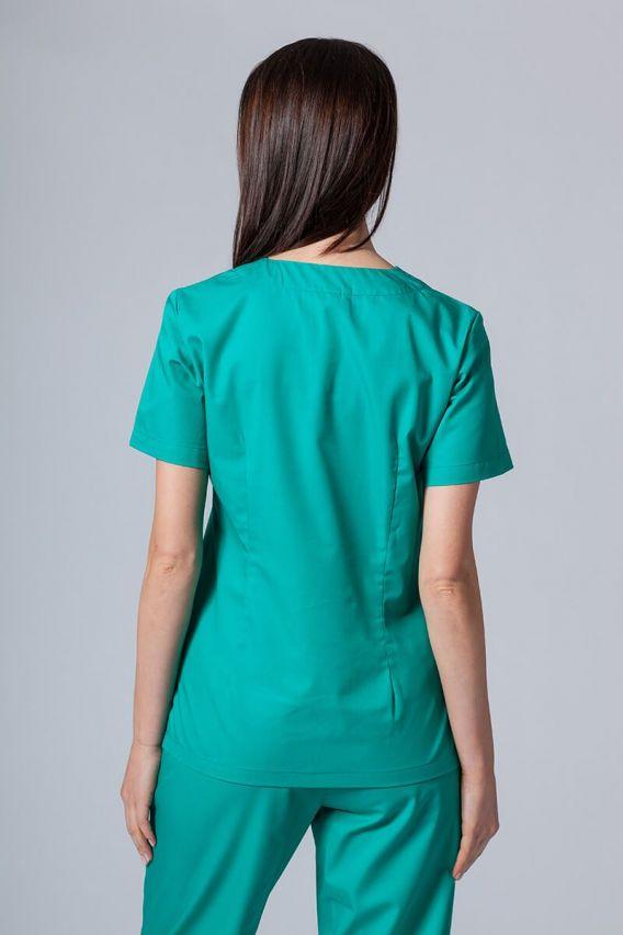 bluzy-medyczne-damskie Lékarská blúzka Sunrise Uniforms zelená