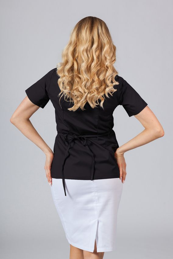 bluzy-medyczne-damskie Zástěra/dámská halena s vázáním Sunrise Uniforms černá