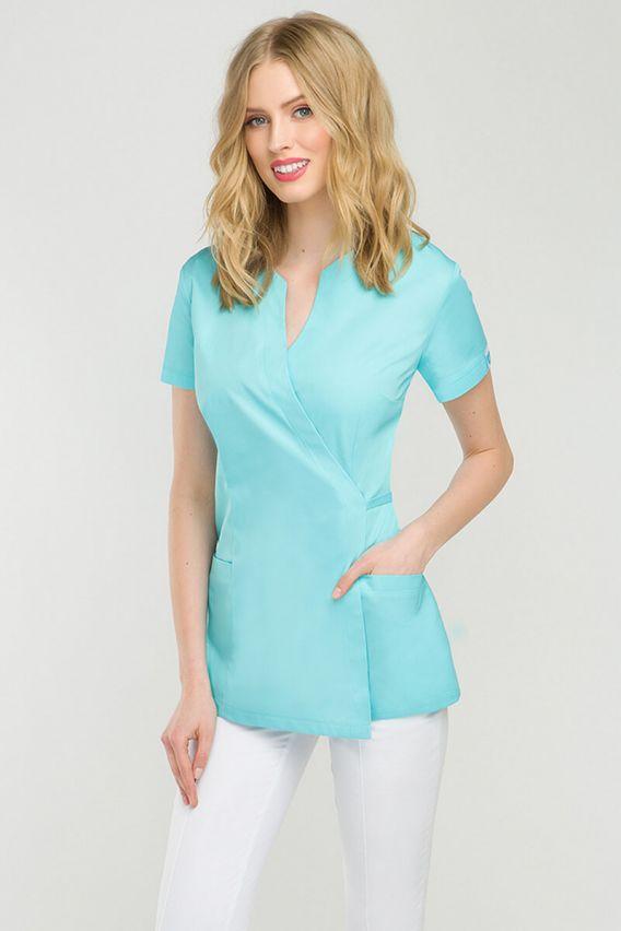 bluzy-2 Zdravotnická / kosmetická zástěra na zapínání Vena Spa 4 aqua