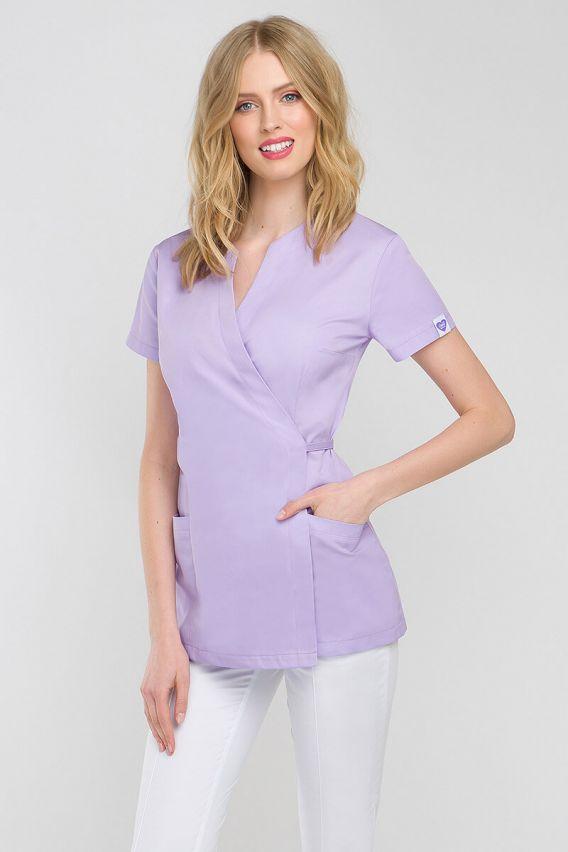 bluzy-2 Zdravotnická / kosmetická zástěra na zapínání Vena Spa 4 vřesová