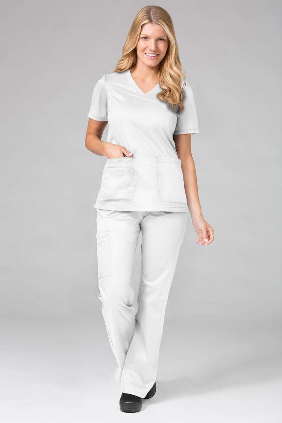 bluzy-medyczne-damskie Lékařská halena Maevn Blossom (elastic) bílá
