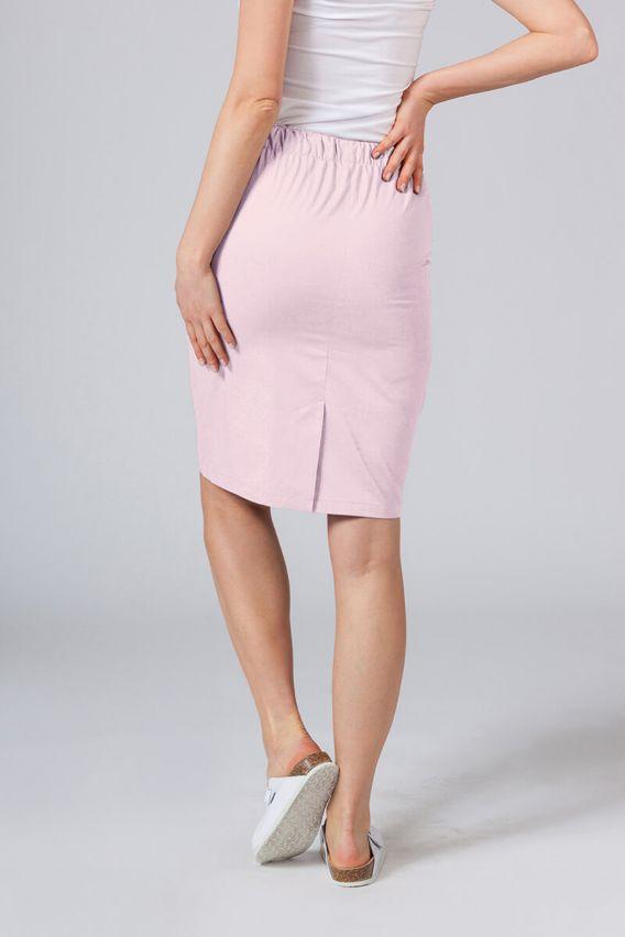 spodnice Dlouhá zdravotnická sukně Sunrise Uniforms pudrová růžová