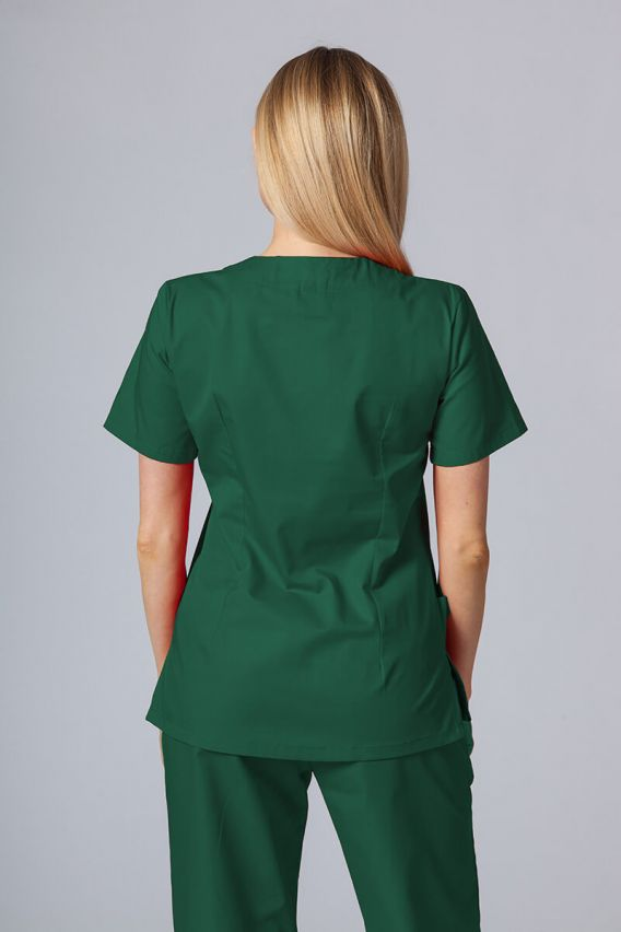 bluzy-medyczne-damskie Lékařská halena Sunrise Uniforms lahvově zelená