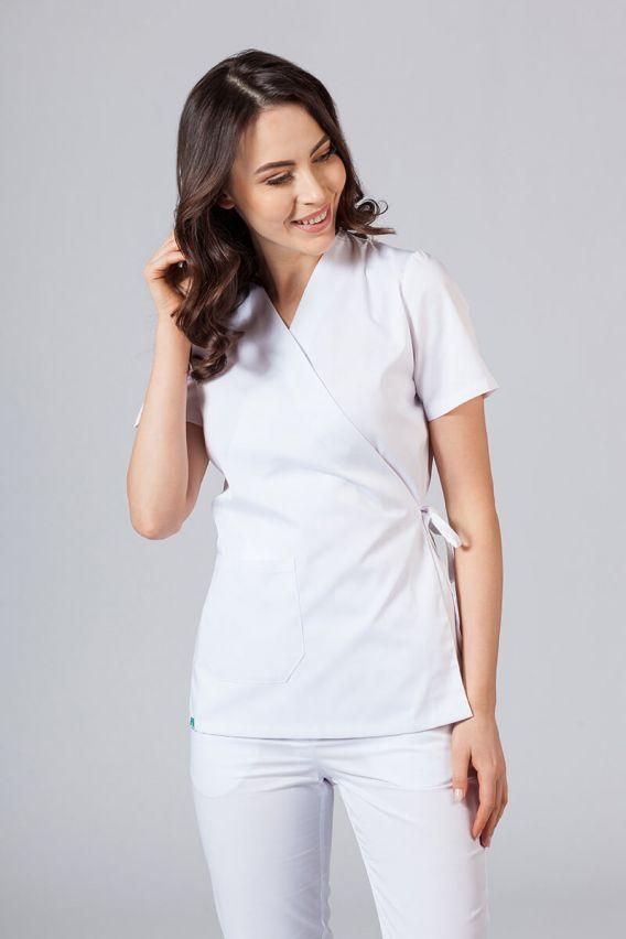 bluzy-medyczne-damskie Zástěra/dámská blúzka s vázáním Sunrise Uniforms biela
