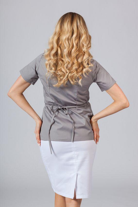 bluzy-medyczne-damskie Zástěra/dámská blúzka s vázáním Sunrise Uniforms šedá