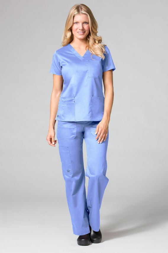 spodnie-medyczne-damskie Lékařské kalhoty Maevn Blossom (elastic) klasicky modré