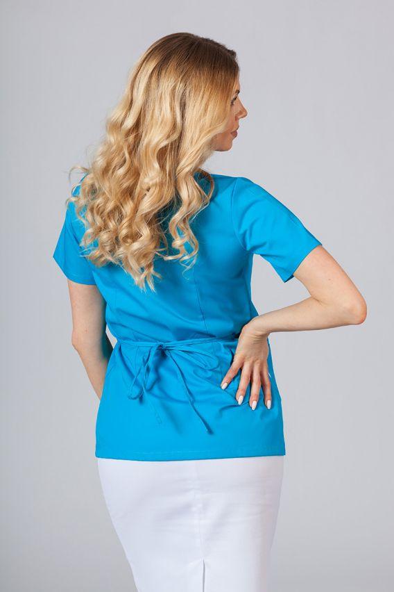 bluzy-medyczne-damskie Zástěra/dámská blúzka s vázáním Sunrise Uniforms tyrkysová