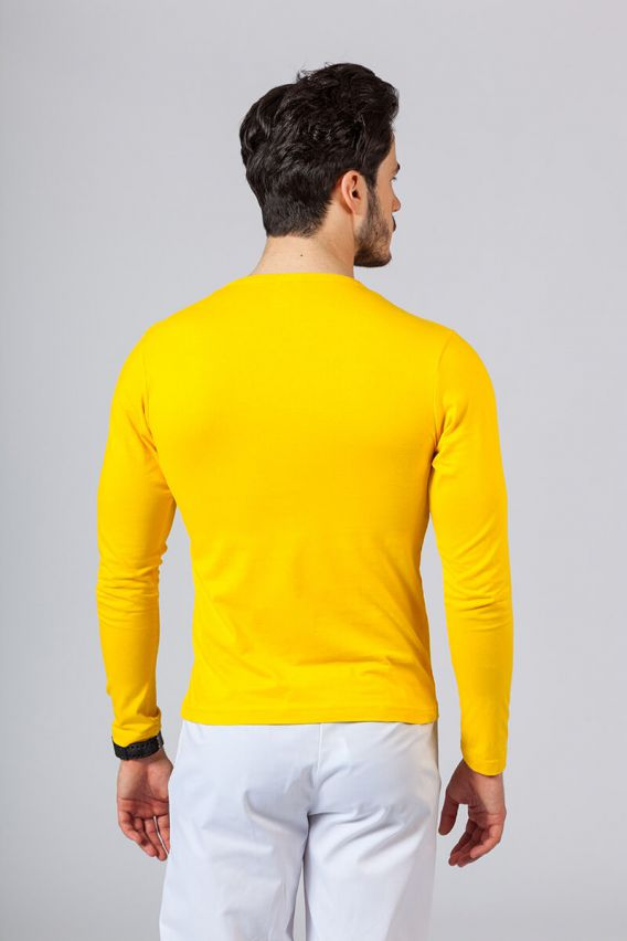 s-dlhym-rukavom Pánské tričko s dlouhým rukávem žluté