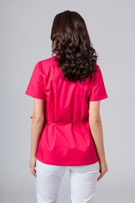 bluzy-medyczne-damskie Zástěra/dámská halena s vázáním Sunrise Uniforms malinová