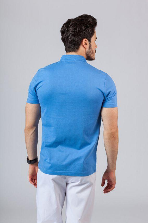 koszulki-medyczne-meskie Pánské Polo tričko azure
