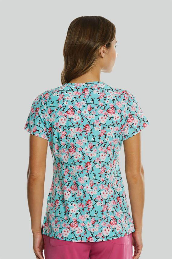 bluzy-medyczne-damskie Lékarská blúzka Maevn Prints rozkvitnutá čerešňa
