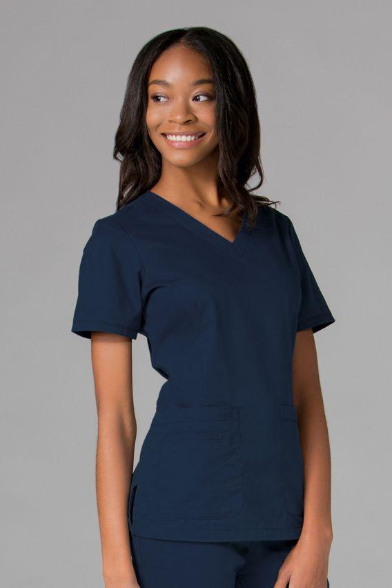 bluzy-2 Lékařská blúzka Maevn Blossom (elastic) námornícky modrá