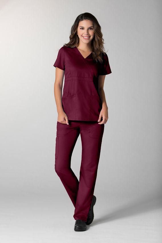 spodnie-medyczne-damskie Dámské kalhoty Maevn EON Style třešňové