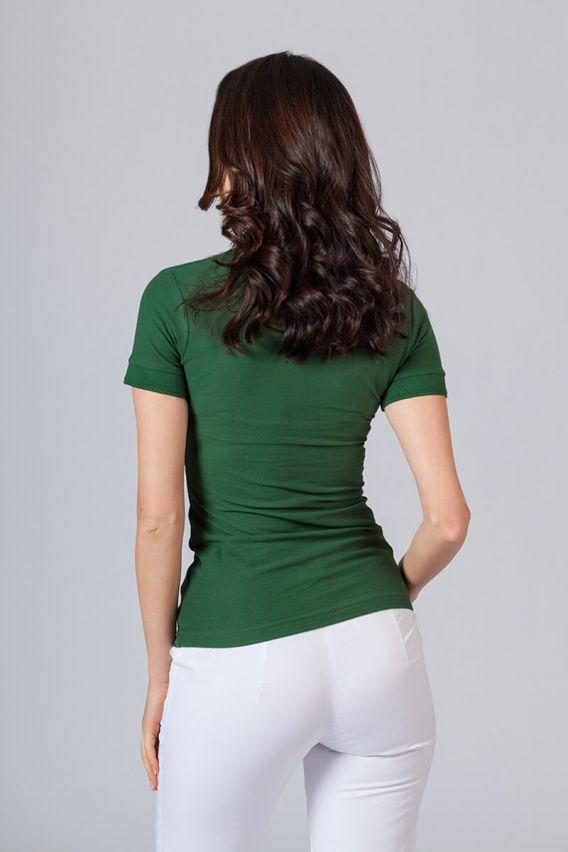 polo-tricka Dámské polo triko lahvově zeleně