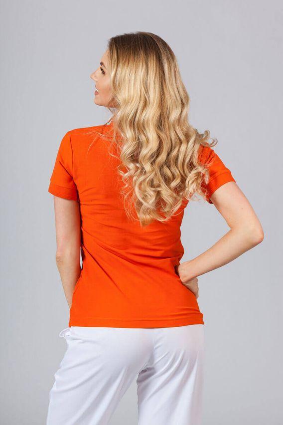 polo-tricka Dámské polo triko Malfini oranžové