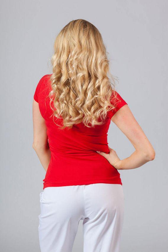 koszulki-medyczne-damskie Dámské tričko červené