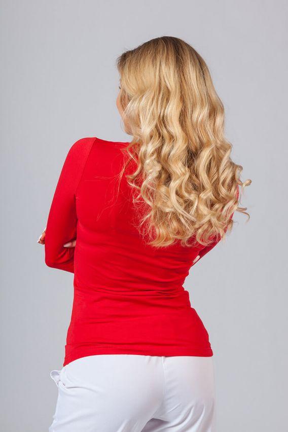 koszulki-medyczne-damskie Dámské tričko s dlouhým rukávem červeně