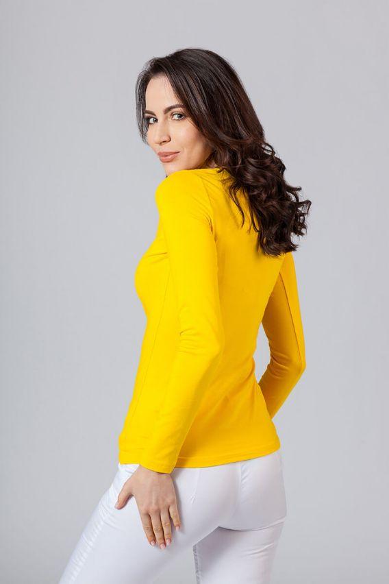 koszulki-medyczne-damskie Dámske tričko s dlhým rukávom žlté