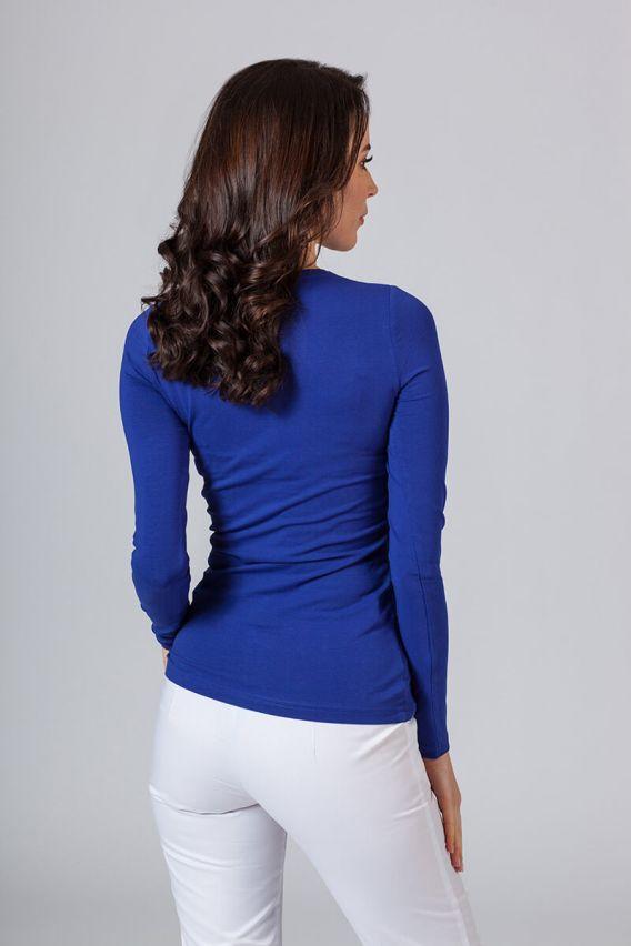 koszulki-medyczne-damskie Dámské tričko s dlouhým rukávem tmavě modré