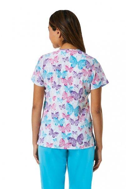 bluzy-we-wzory Lékařská halena Maevn Prints motýli