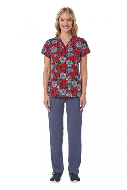 bluzy-we-wzory Lékarská blúzka Maevn Prints nočná záhrada