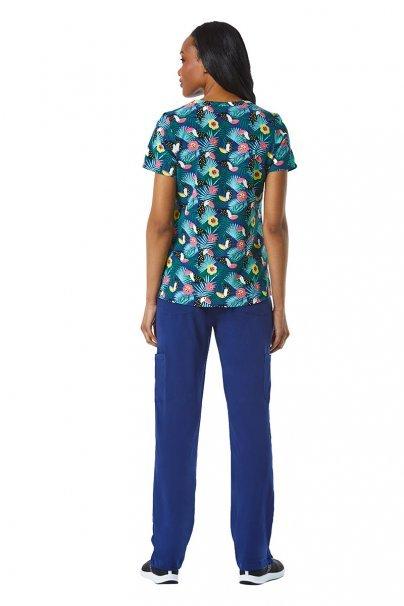 bluzy-we-wzory Lékarská blúzka Maevn Prints tukani