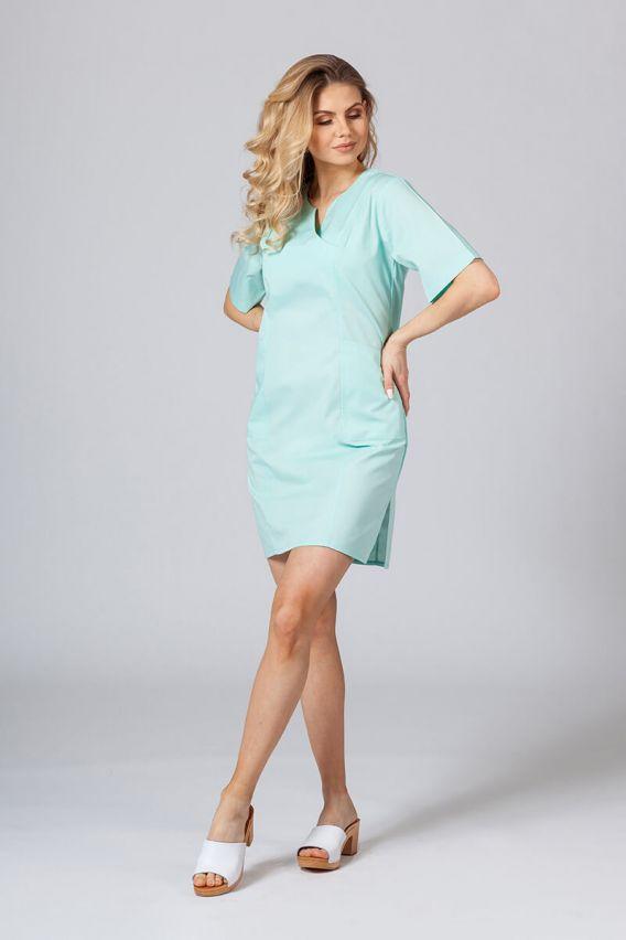 sukienki Lékařské Klasické šaty Sunrise Uniforms mátové