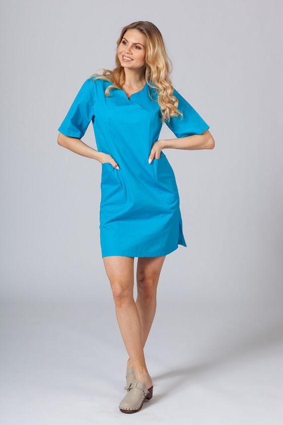 sukienki Lékařské Klasické šaty Sunrise Uniforms tyrkysové