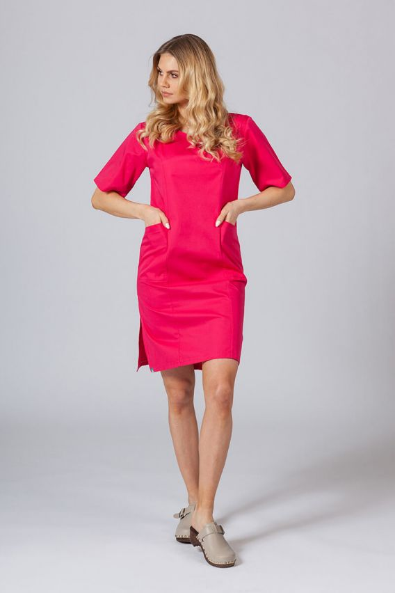 sukienki Lékařské Klasické šaty Sunrise Uniforms malinové