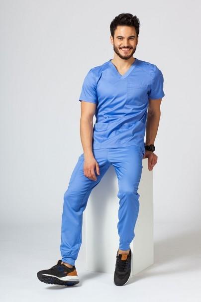 bluzy-1-1 Pánská lékařská blúzka Maevn Matrix Men klasicky modrá