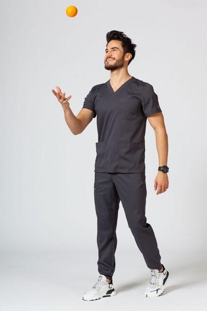bluzy-1-1 Pánska lekárska blúzka Maevn Matrix Men šedá