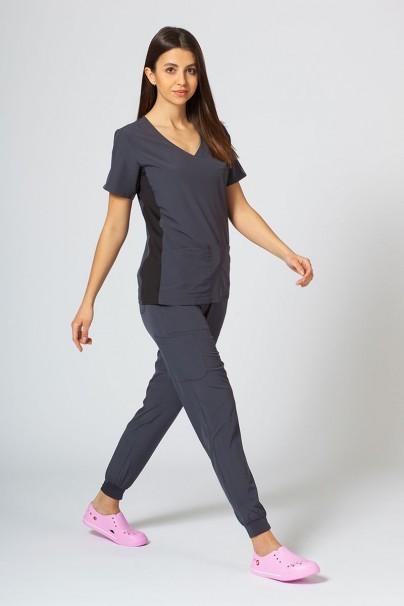bluzy-medyczne-damskie Dámská blúzka Maevn Matrix Impulse Asymetric šedá
