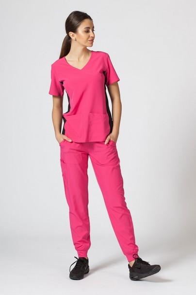 bluzy-medyczne-damskie Dámská blúzka Maevn Matrix Impulse Asymetric ružová