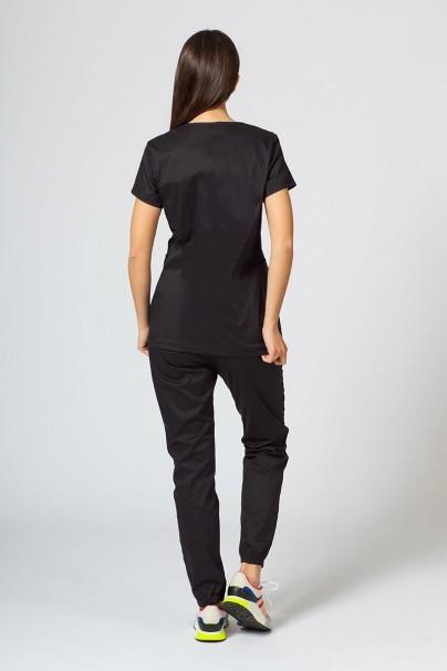 soupravy Zdravotnická súprava Sunrise Uniforms Active čierna (s blúzkou Kangaroo - elastic)