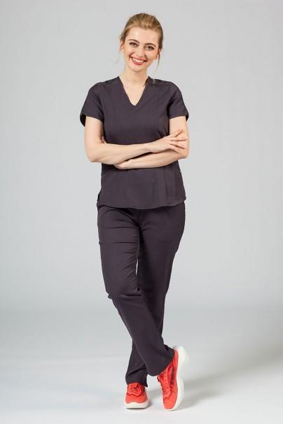 kalhoty-1-1 Dámske nohavice Adar Uniforms Leg Yoga grafitové