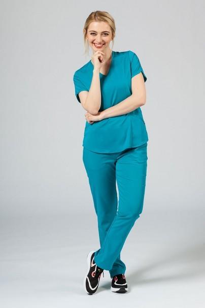 kalhoty-1-1 Dámske nohavice Adar Uniforms Leg Yoga morsky modré