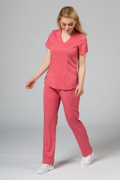 kalhoty-1-1 Dámske nohavice Adar Uniforms Leg Yoga ružové