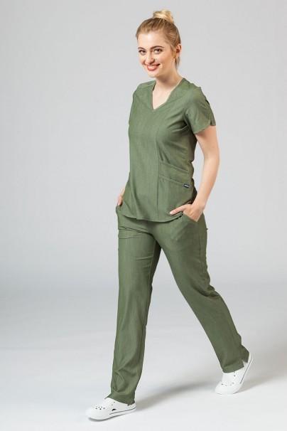 kalhoty-1-1 Dámske nohavice Adar Uniforms Leg Yoga olivkové