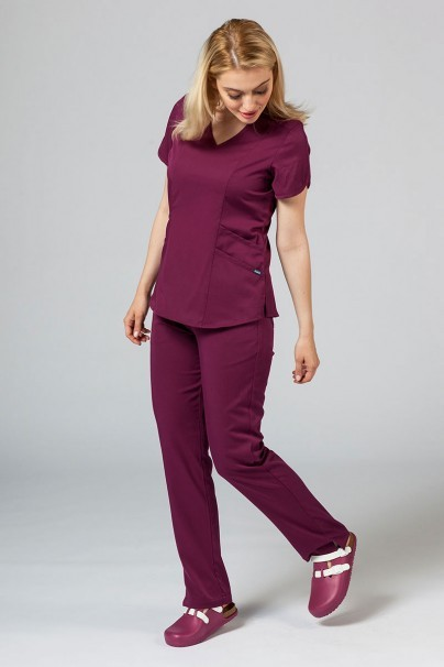 kalhoty-1-1 Dámske nohavice Adar Uniforms Leg Yoga čerešňove červené