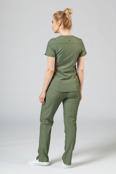 soupravy Lekárska súprava Adar Uniforms Yoga olivková (s blúzou Modern - elastic)