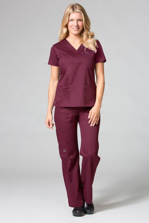 spodnie-medyczne-damskie Lékařské kalhoty Maevn Blossom (elastic) třešňově