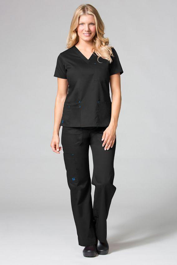 spodnie-medyczne-damskie Lékařské kalhoty Maevn Blossom (elastic) černé