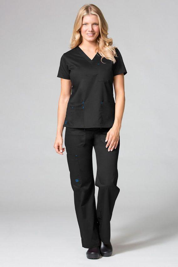 bluzy-medyczne-damskie Lékarská blúzka Maevn Blossom (elastic) čierna